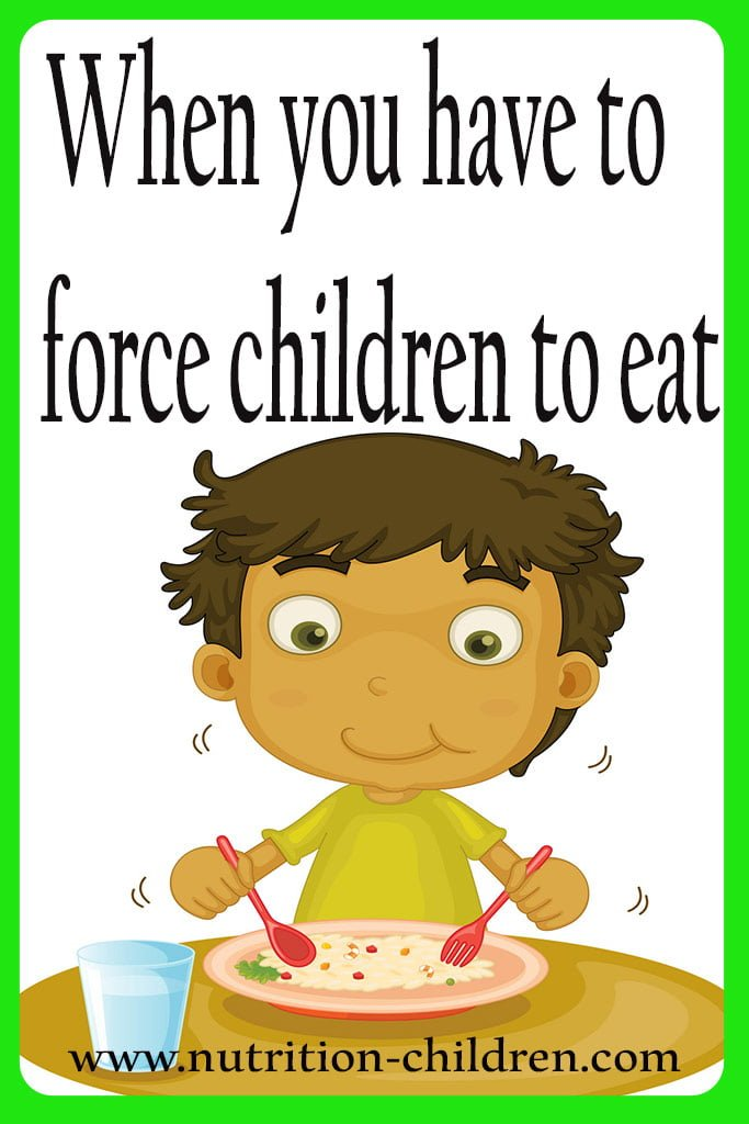 When you have to force children to eat